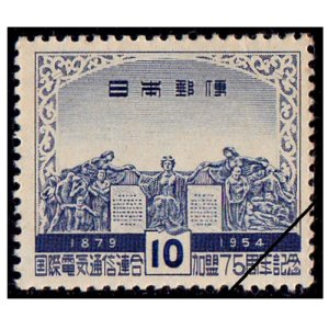 国際電気通信連合加盟75年記念切手