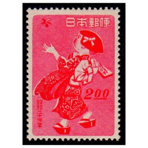 年賀切手-羽根つき(S24用)