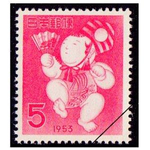 年賀切手-三番鼠人形(S28用)