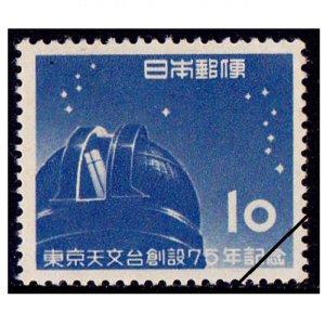 東京天文台創立75年記念切手