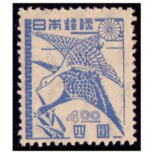 第二次新昭和切手4円(落雁図)