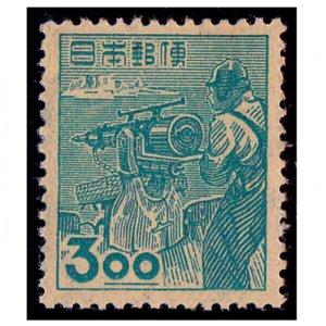 産業図案切手3円(捕鯨)